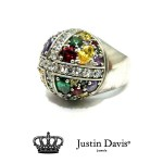 Justin Davis SRJ284 Stardust Cross Ring multi