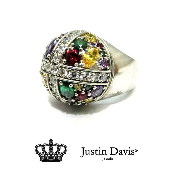 Justin Davis SRJ284 Stardust Cross Ring multi